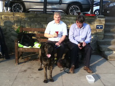 Kevin Morris with his guide dog Trigger